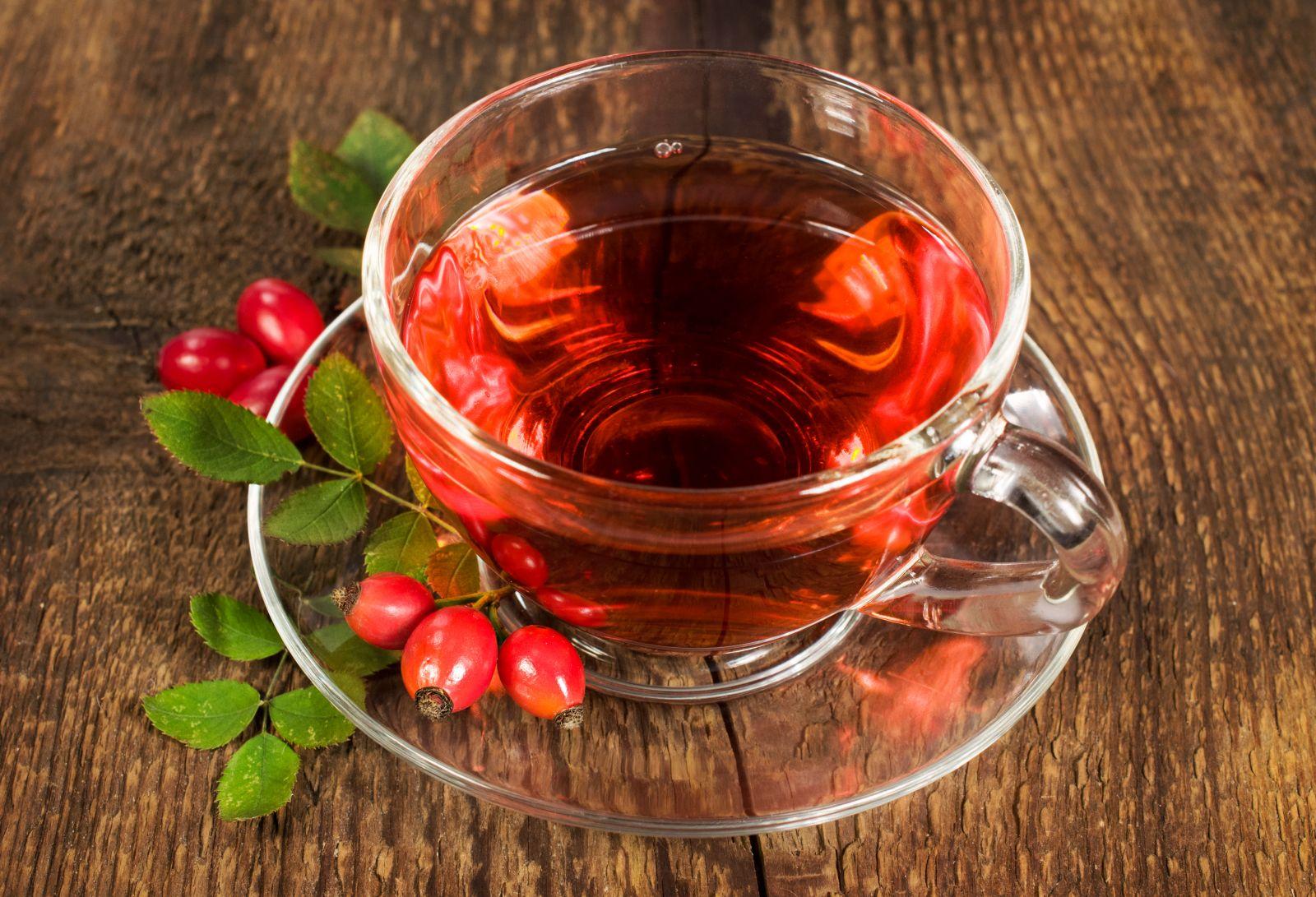A csipkebogyó tea és olaj